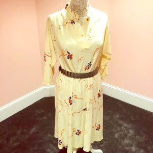 Vintage 70s terry cloth dress